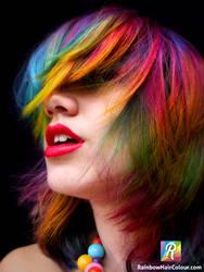 Rainbow Ombre Hair by littlehippy