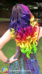 Rainbow Hair Extensions Hand Dyed by Anya Goy