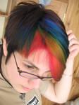 Rainbow Hair by littlehippy