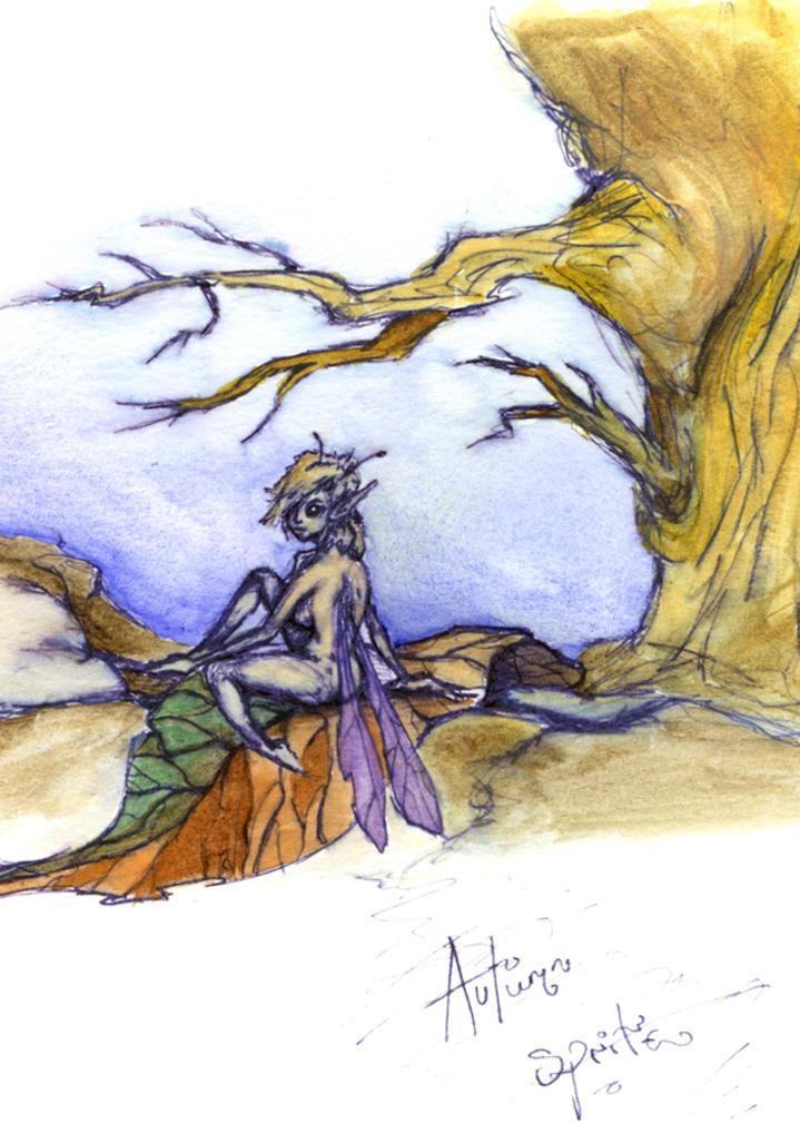 Autum fairy coloured by littlehippy