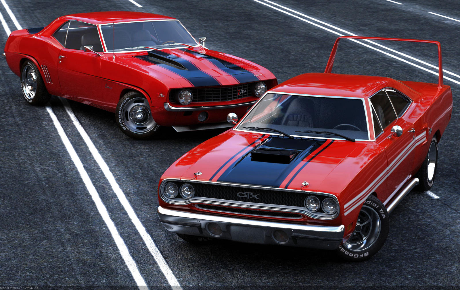 Muscle cars by Missionaryrdr on DeviantArt