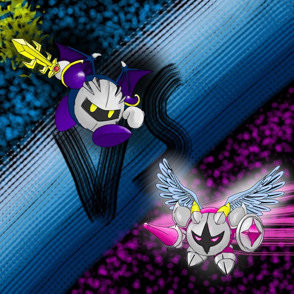 Meta knight vs Galacta knight by Cole2000 on deviantART