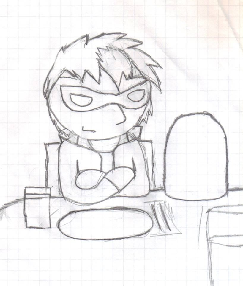 Jason at the Dinner table by AlcNin2244