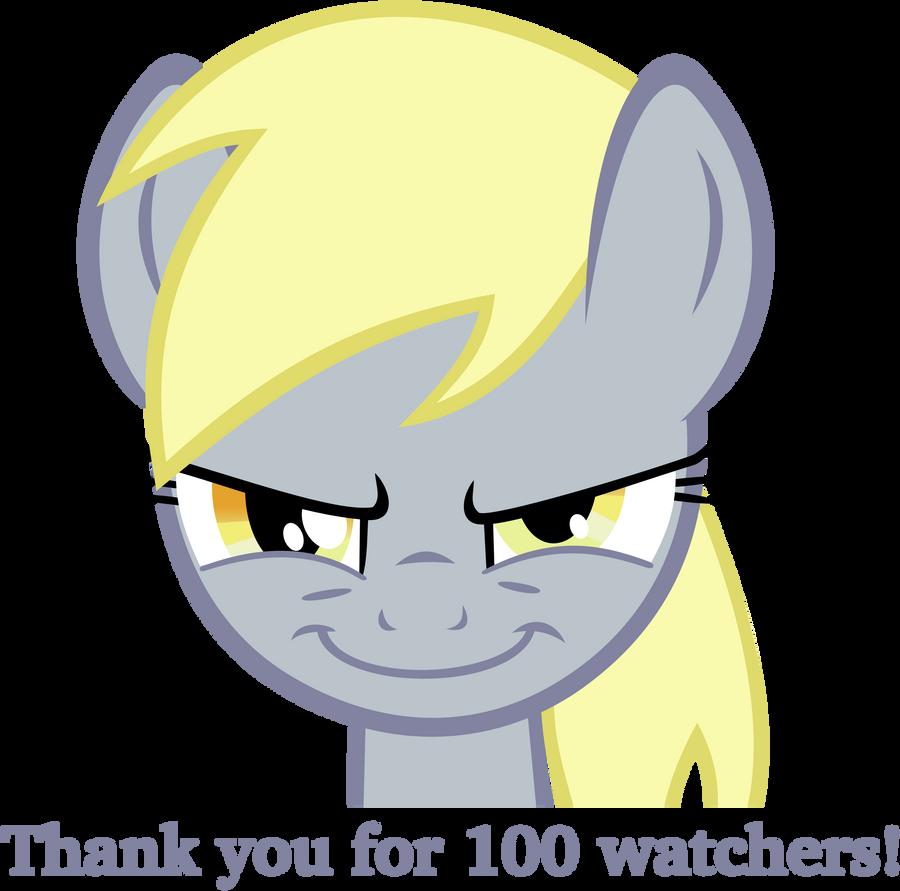 Evil Derpy - 100 Watchers! by flutterguy317