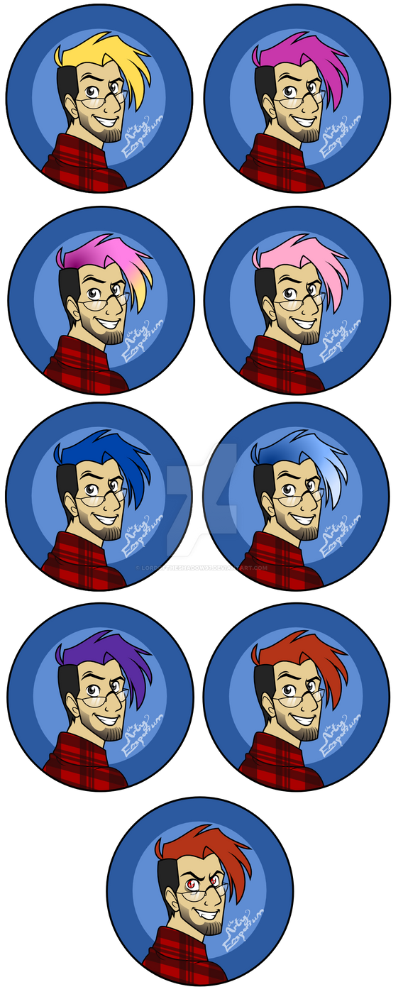 Markiplier Buttons set by LordOfTheShadow97