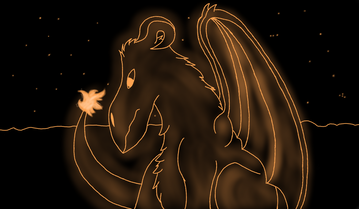 orange glow dragons wallpaper - photo #1
