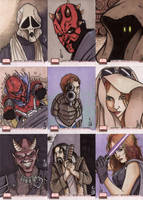 Star Wars Galaxy 4 cards 1 by ragelion
