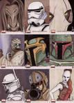 Star Wars Galaxy 4 cards 2