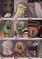 Star Wars Galaxy 4 cards 3 by ragelion