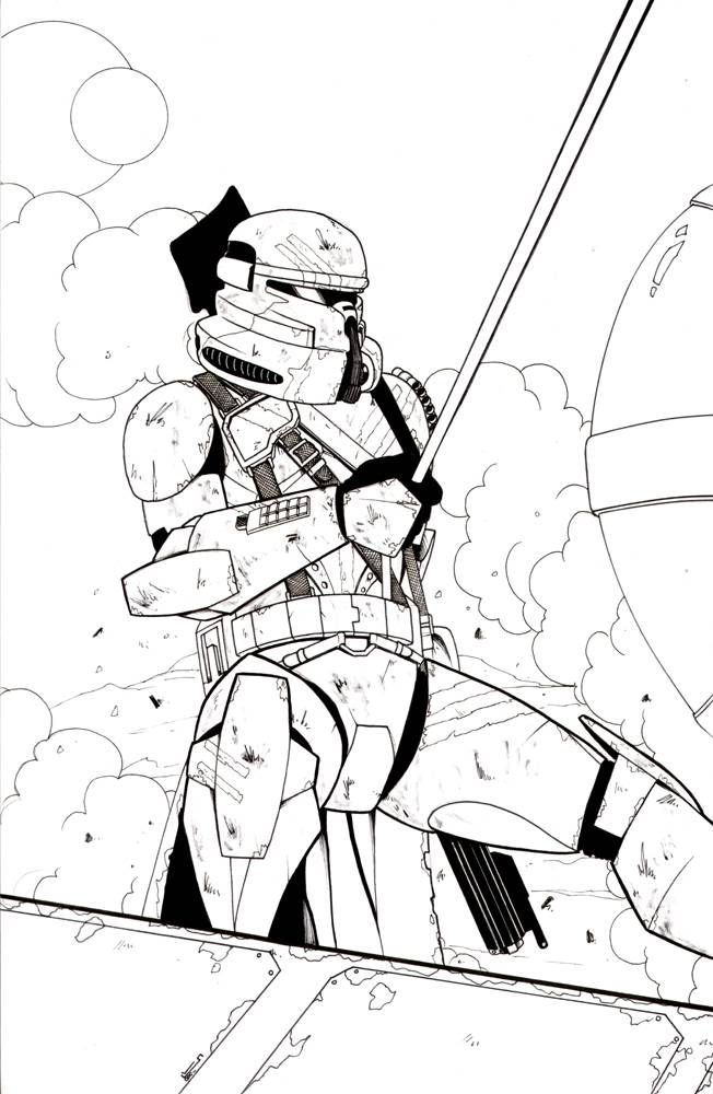 Clone trooper Captain Rex Star Wars: The Clone Wars Drawing, Clone ... | 1000x652