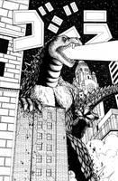 Godzilla vs Columbus by ragelion