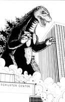 Godzilla vs Dayton by ragelion