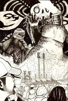Godzilla Cincinnati Inks