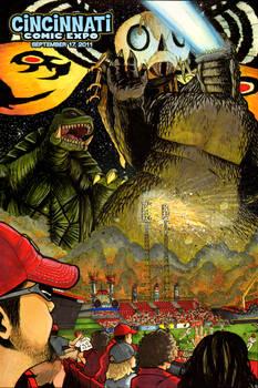Cincinnati Godzilla Poster