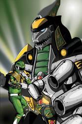 Green Dragonzord colored