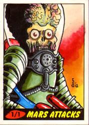 Mars Attack sketch card