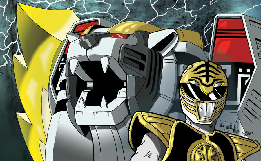 White Ranger Colored by ragelion
