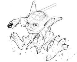 Jedi Knight Yoda by ragelion
