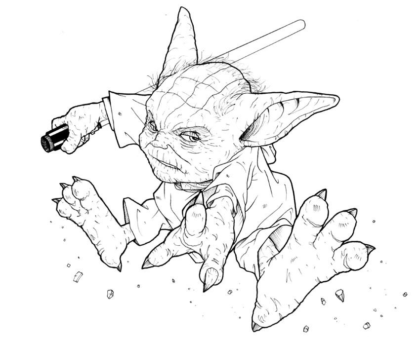 Jedi Knight Yoda by ragelion