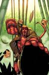 Hellboy gettin head colored