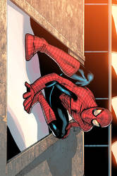 Spidey Chillin Colored by ragelion