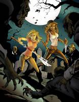 Buffy and Faith by DEADNEMO