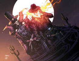 Gunslinger Spawn And Western Ghost Rider by DEADNEMO
