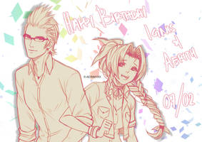 HBD Ignis and Aerith by Aerinyxx