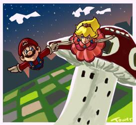 Floating by Mushroom-Tower