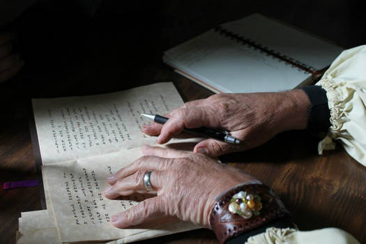 An Old Bard's Hands