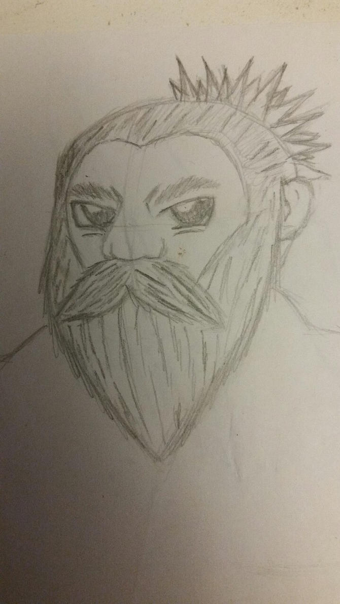 Bru Face Drawing by X0AW0LF