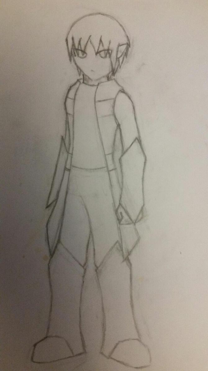 X Portrait Drawing by X0AW0LF