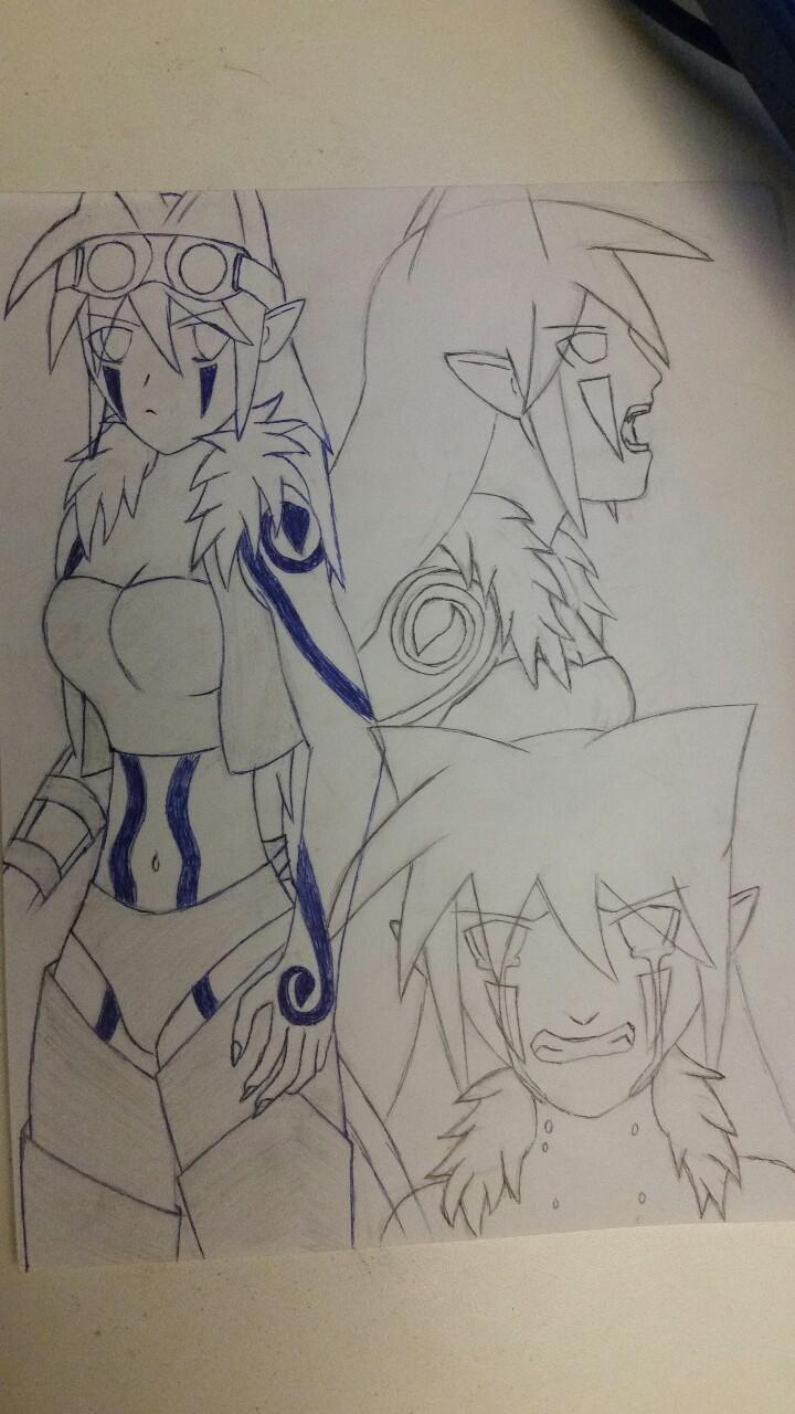 Aurora Drawing by X0AW0LF
