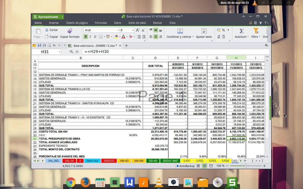 Kingston Office eLementary Os Hoja de calculo by sumarilibre