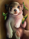 Forest tribe puppy by ShiriArt