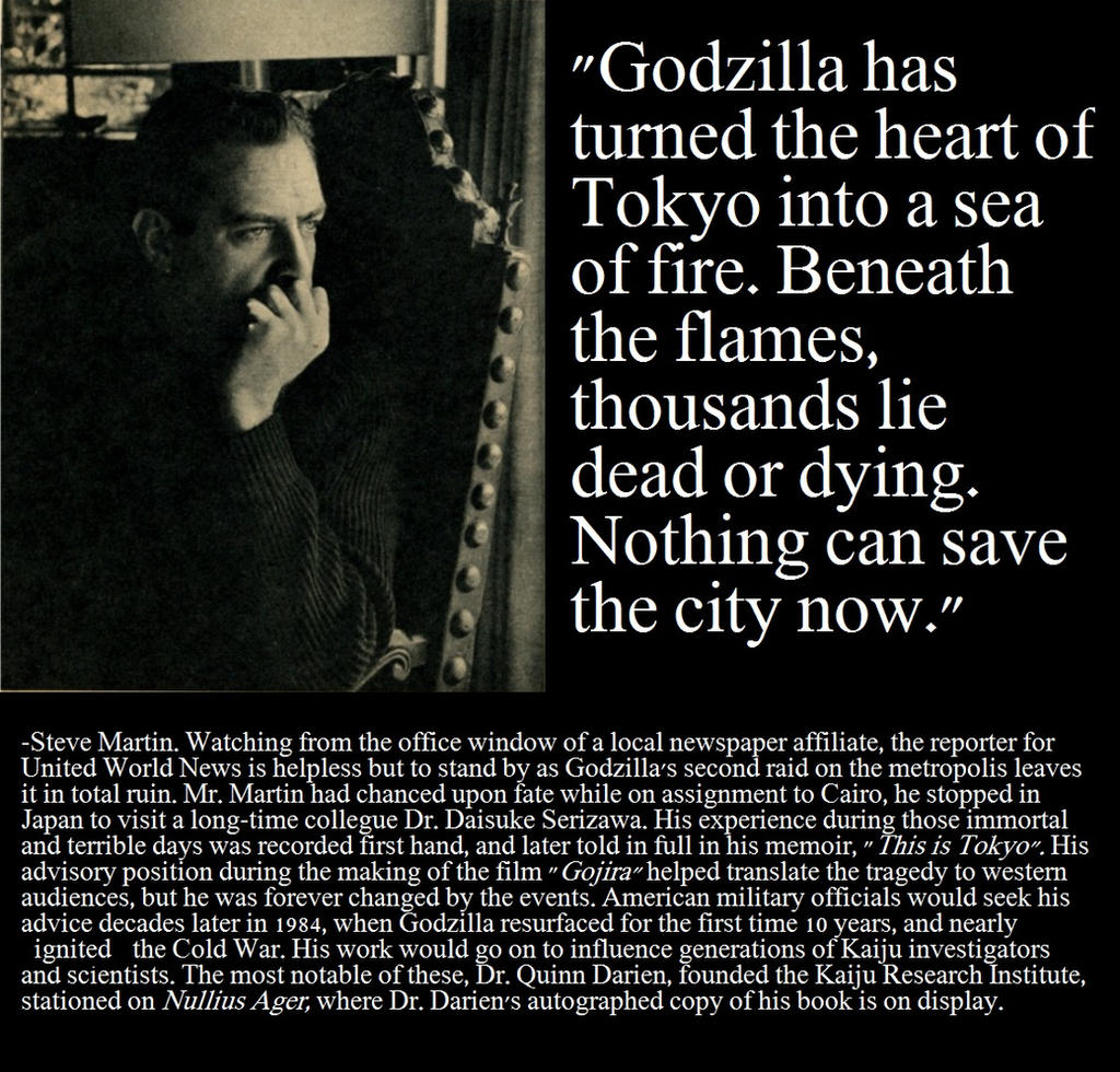 Godzilla Quotes: Godzilla/Marvel Saga:: Steve Martin Quote By RMC1618 On