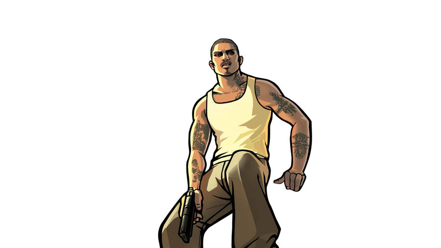 Gta 5 Cartoon Characters : Cj from gta san andreas by radeon teriyaki on deviantart