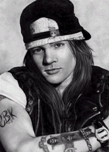 Black and White Axl Rose by cuteblackkat