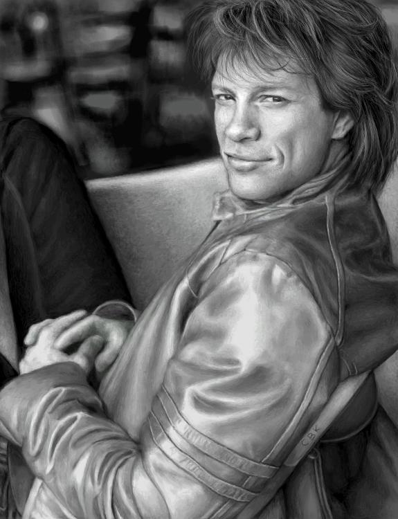 Black + White Jon Bon Jovi by cuteblackkat