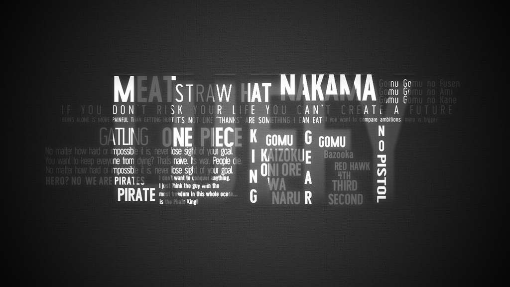 Luffy Typography Poster / Wallpaper [One Piece] by
