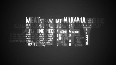 luffy typography poster   wallpaper   one piece  by miahatake13 d9g0kte