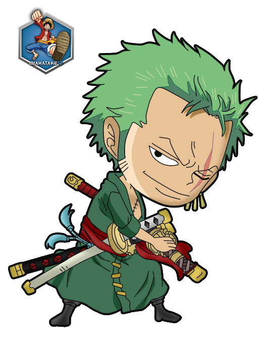 roronoa zoro chibi png by miahatake13 one piece by