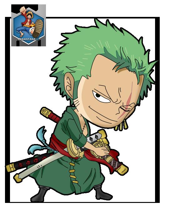 Roronoa Zoro Chibi Png By Miahatake13 One Piece By Miahatake13 On Deviantart