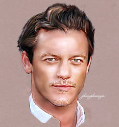 Luke Evans by JohnnyShamoyan