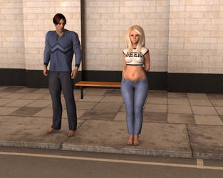 Bus Stop Girl 3 by prettynchubby