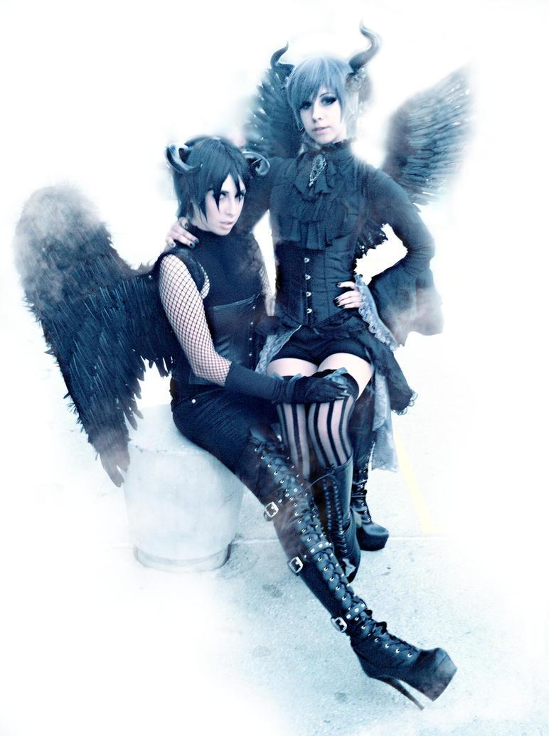 Demon Ciel and Sebastian by SoraIIIX