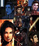Collage of Bastila Shan