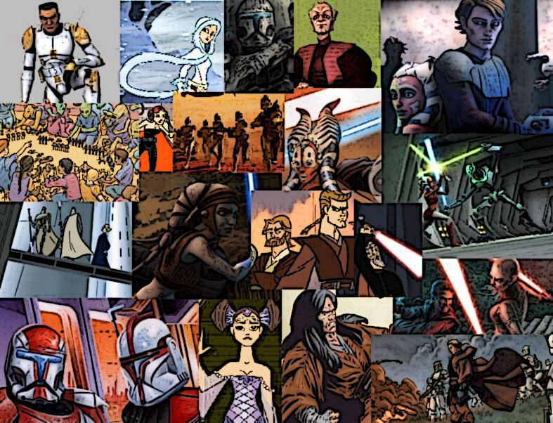 Clone Wars Collage Wallpaper By Ladyilona1984 On Deviantart
