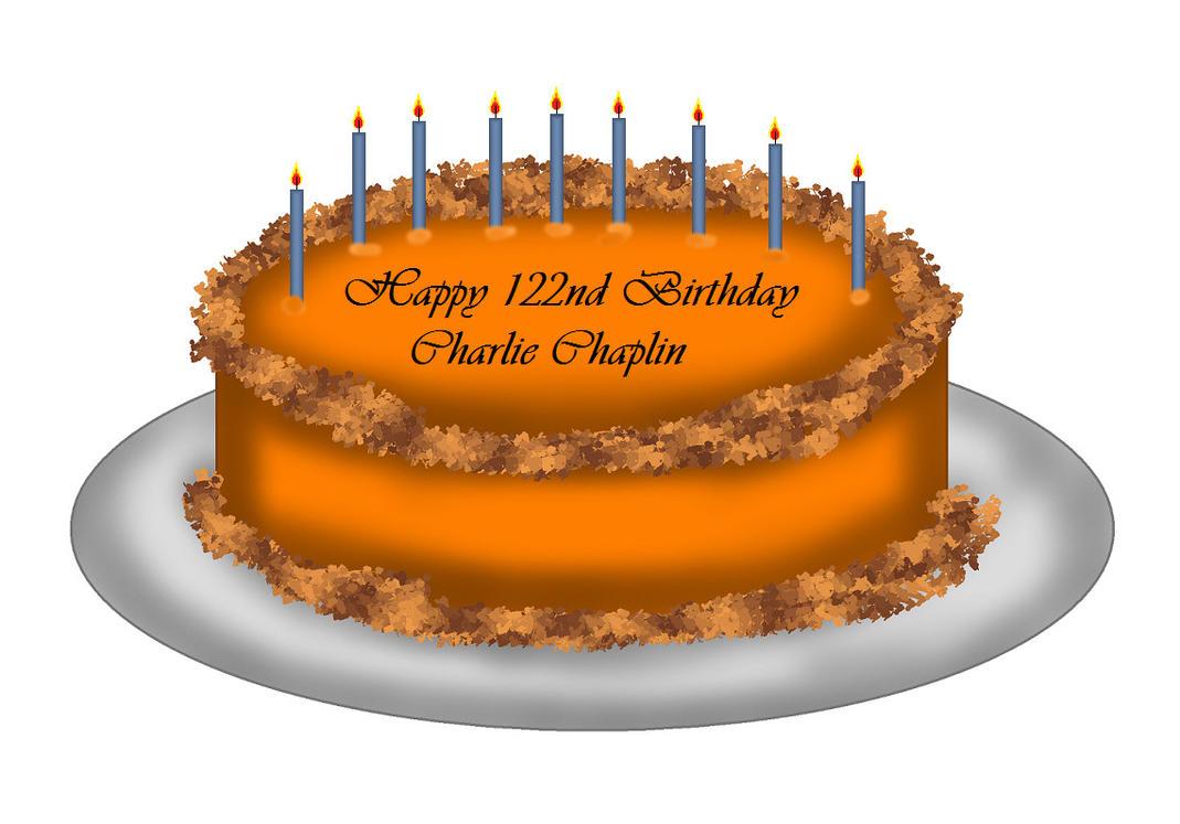 Charlie Chaplin Birthday Cake