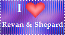 Revan and Shepard Stamp by LadyIlona1984